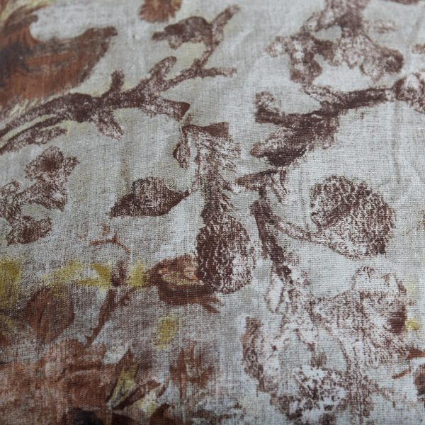 Natural Floral Scatter Cushion Close Up