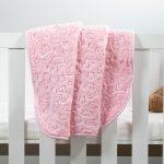 Baby Faux Mink Blanket Pink Pattern