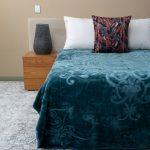 Pandora Faux Mink Blanket Turquoise