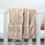 Baby Faux Mink Blanket Beige