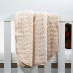Baby Faux Mink Blanket Beige Heart Pattern