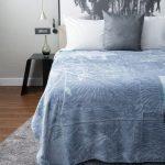Letsatsi Faux Mink Blanket Blue