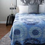 Amigo Faux Mink Blanket Blue Floral