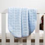 Baby Faux Mink Blanket Blue Heart Pattern
