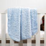 Baby Faux Mink Blanket Blue Pattern