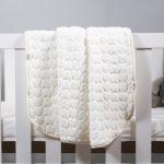 Baby Faux Mink Blanket Cream Heart Pattern