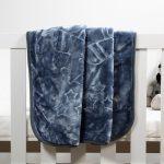 Baby Faux Mink Blanket Denim Blue
