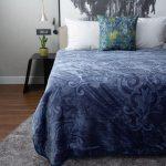 Pandora Faux Mink Blanket Denim Blue