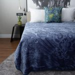 Diamond Faux Mink Blanket Denim Blue