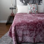 Pandora Faux Mink Blanket Grape Shake
