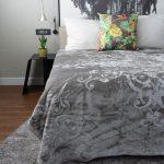 Orchid Faux Mink Blanket Grey