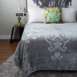 Diamond Faux Mink Blanket Grey