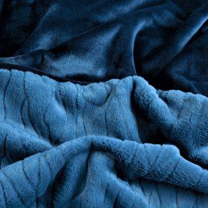 Cleopatra Faux Fur Blanket Indigo & Navy