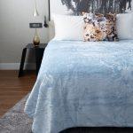 Diamond Faux Mink Blanket Light Blue