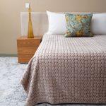 Love & Leaf Faux Mink Blanket Natural Pattern