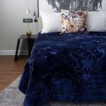 Pandora Faux Mink Blanket Navy