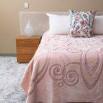 Love & Leaf Faux Mink Blanket Peach