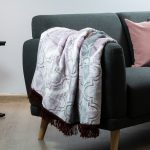 Faux Mink Frill Blanket Pink