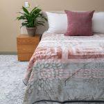 Amigo Faux Mink Blanket Pink Block