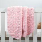 Baby Faux Mink Blanket Pink Heart Pattern