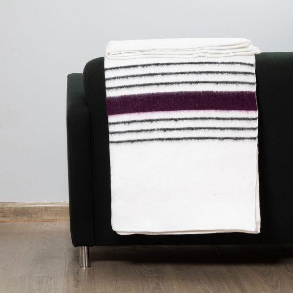 Traditional Blanket Purple Stripe