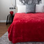 Pandora Faux Mink Blanket Red