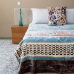 Paris Faux Mink Blanket Pattern Teal & Cream