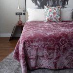 Fashion Faux Mink Blanket Grape Shake