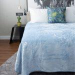 Fashion Faux Mink Blanket Light Blue