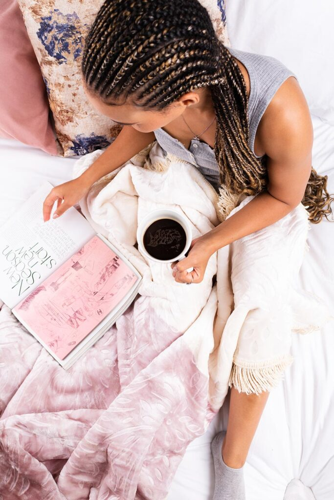 Ways To Celebrate The Month Of Spring   Natural Mink Frill Throw